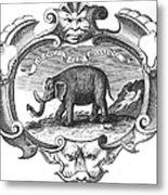 Elephant, 17th Cent Metal Print