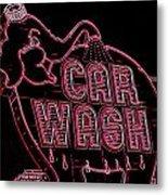 Elephant Car Wash Neon Metal Print