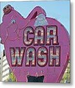 Elephant Car Wash Metal Print