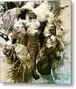 Elephants Gone Wild Metal Print