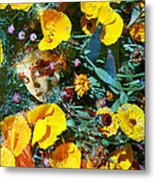 Elfin Child Of Poppies Metal Print by Cyoakha Grace