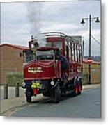 Elizabeth - Steam Bus At Whitby Metal Print