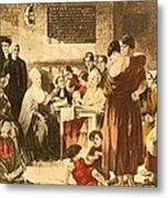 Elizabeth Fry 1780-1845 Was An English Metal Print by Everett