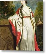 Elizabeth Gunning - Duchess Of Hamilton And Duchess Of Argyll Metal Print by Sir Joshua Reynolds