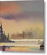 Elk Island Sundown 1 Metal Print
