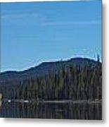 Elk Lake Oregon Panorama Metal Print