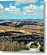 Elk Mountain Ski Resort Metal Print