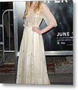 Elle Fanning Wearing A Vintage Dress Metal Print