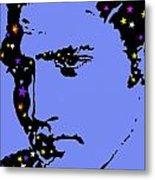 Elvis Feeling Blue Metal Print