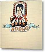 Elvis On The Wall Metal Print