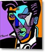Elvis Presley Abstract Metal Print
