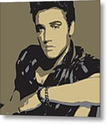 Elvis Presley - Pop Art Portrait Metal Print