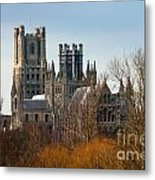 Ely Cathedral Scenic Metal Print