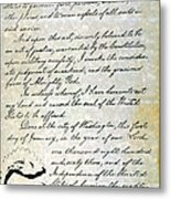 Emancipation Proc., P. 4 Metal Print
