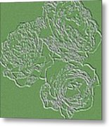 Embossed Roses Metal Print by Will Borden
