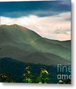 Emerald And Gold Metal Print