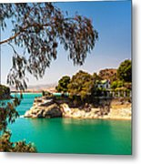 Emerald Lake With Duke House. El Chorro. Spain Metal Print