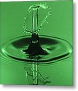 Emerald Umbrella Metal Print