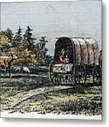 Emigrants To Ohio, 1805 Metal Print