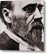 Emile Zola 1840-1902, French Novelist Metal Print