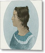 Emily Bronte, English Author Metal Print