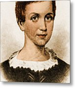 Emily Dickinson, American Poet Metal Print by Photo Researchers