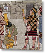 Emissaries Bring Tribute To Inca Metal Print by Ned M. Seidler