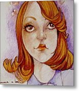 Emma In Love Metal Print by Jackie Rock