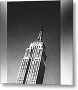 Empire State Black And White Metal Print