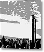 Empire State Building Bw3 Metal Print