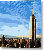Empire State Building Color 16 Metal Print