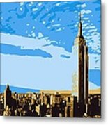 Empire State Building Color 6 Metal Print