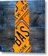 Empire State Building Nyc License Plate Art Metal Print