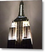 Empire State In The Fog Metal Print