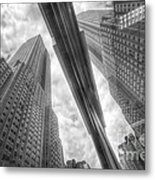 Empire State Reflection Metal Print