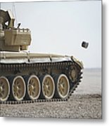 Empty Casings Eject From An Iraqi T-72 Metal Print