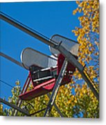 Empty Chair On Ferris Wheel Metal Print by Thom Gourley/Flatbread Images, LLC