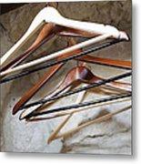 Empty Coat Hangers Metal Print