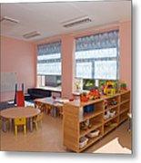 Empty Estonian Elementary Grade School Metal Print