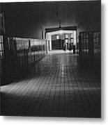Empty Hallway At Central High School Metal Print by Everett