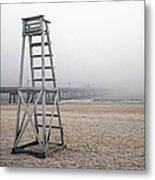 Empty Lifeguard Chair Metal Print