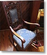Empty Rocking Chair Metal Print