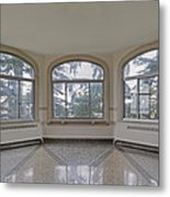 Empty Room In Turret With Windows Metal Print