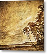 Empty Tropical Beach 3 Metal Print
