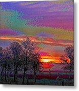 Enameled Sunrise Of Northern California Metal Print