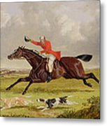 Encouraging Hounds Metal Print