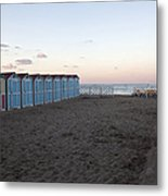 End Of Day - Mondello Beach Metal Print