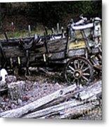 End Of The Trail Oregon Conestoga Wagon  Metal Print