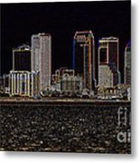 Energized Tampa - Digital Art Metal Print