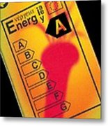 Energy Efficiency Rating Label Metal Print by Sheila Terry